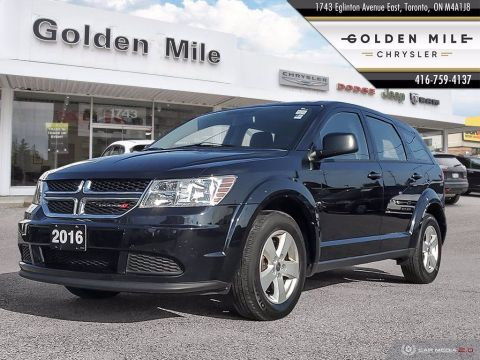 Pre-Owned 2016 Dodge Journey Canada Value Pkg One Owner, Clean Carfax, Low Km's!