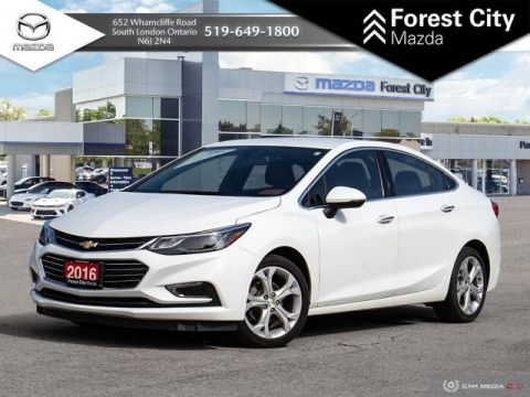 Pre-Owned 2016 Chevrolet Cruze Premier | SXM | Reverse Cam | Leather Interior