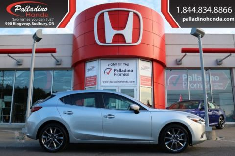 Pre-Owned 2018 Mazda3 Sport GT-NAVIGATION,BLUETOOTH,HEATED SEATS