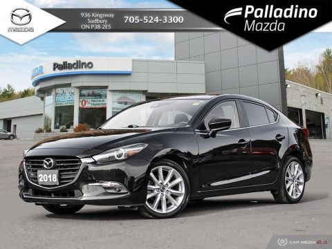 Pre-Owned 2018 Mazda3 GT - POWERFUL 2.5L WITH MANUAL TRANSMISSION - ONE OWNER FWD 4dr Car