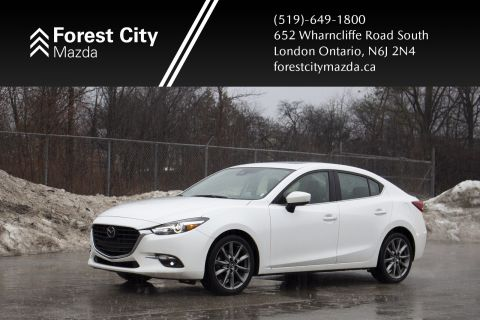 Pre-Owned 2018 Mazda3 GT,LEATHER,SUNROOF,NAVIGATION
