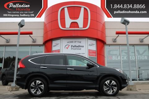 Pre-Owned 2016 Honda CR-V Touring- IIHS Top Safety Pick+ ALL WHEEL DRIVE, Honda SENSING,HEATED LEATHER SEATS