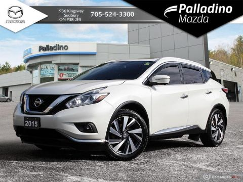 Pre-Owned 2015 Nissan Murano PLATINUM - LUXURIOUS INTERIOR - CLEAN EXTERIOR - CERTIFIED
