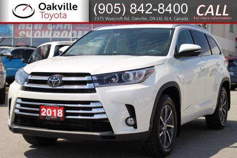 Certified Pre-Owned 2018 Toyota Highlander XLE AWD with Clean Carfax and Single Owner