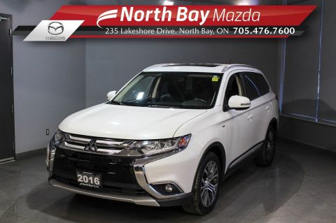 Pre-Owned 2016 Mitsubishi Outlander GT AWD with Heated Seats, Sunroof, 3rd Row Seating 4WD
