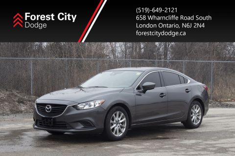 Pre-Owned 2017 Mazda6 GS,LEATHER,SUNROOF