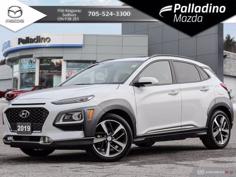 Pre-Owned 2019 Hyundai Kona Ultimate - TONS OF SAFETY FEATURES - LEATHER With Navigation & AWD